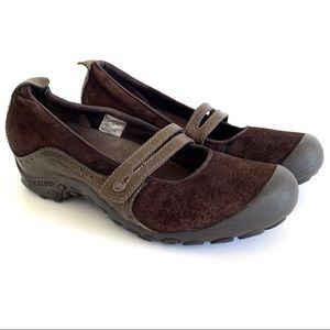 Merrell Bandeau Brown Suede Mary Jane Hiking Shoes